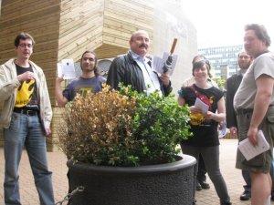 Skeptics congregate at Schroedinger's plant at the VPL