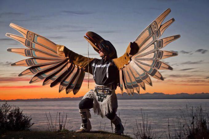 Tlinglit Raven dancer